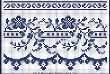 Cross Stitch Borders / Cross stitch borders / by Velle Mere Lyons