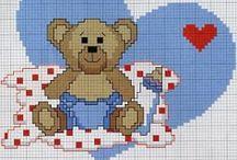 Cross Stitch Bears / Bears / by Velle Mere Lyons