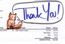 Invoice Drawings / Just make a request in your order notes and you'll get a one-of-a-kind bit of silliness!  / by Sock Dreams