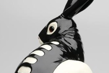 ceramic rabbits  / ..and a few that aren't ceramic / by Kay O'Tickley