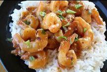 Food - seafood / crab, shrimp / by Kathie Williams