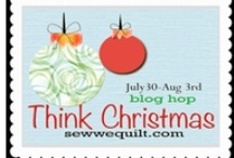 Think Christmas ( blog hop                          July 30 to Aug 5th) / WE have another blog hop scheduled and this one has 73 participants who will be thinking and creating =Christmas blocks with candles, Santas, snowman, stars....Lesley from the Cuddle Quilter will be hosting this one for us! ( Sew we Quilt)  / by Mdm Samm ...