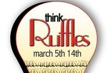 Think Ruffles / Mad about RUFFLES, we are….we will ruffling many things through these few days in March..join us…ruffle something…. / by Mdm Samm ...