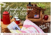 A Perfect Picnic blog hop / When was the last time you went on a picnic...WEllll these ladies will be doing a lot more this summer.. Everyone will be making a PICNIC quilt some with laminates and Peterboro Basket is supplying some beautiful picnic baskets...Mary will be cheering us on....she is soooo excited to get a new basket!  / by Mdm Samm ...