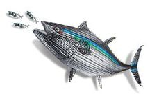 Sculptures Made of Costas / Costa's Fish Art is back with a Bluefin Tuna, Bonefish, and Steelhead to add to the collection. Plans have already been made to utilize the sculptures for conservation.   Our Marlin raised $10,000 for The Billfish Foundation, the Tarpon was donated to IGFA Hall of Fame, the Bass resides with our creative agency, and the Sailfish and Dorado are living at Costa's HQ in Florida.   Head on over to our Facebook Page to download your own Costa Fish Art Images. @costasunglasses #costafishart / by Costa Sunglasses