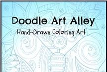 Coloring Art Ebooks / by Doodle Art Alley
