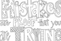 Coloring Pages - Quotes, Words / Free Printable Coloring Pages / by Doodle Art Alley