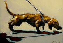 Dog Portraits / Dog Art / by Evelyn McCorristin Peters - Contemporary Art