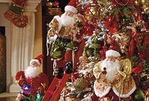 Christmas Trees & Handcrafted Santa's / by Pin Tabulous