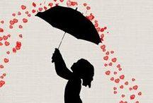 Sous la pluie ! / Illustations / by Papillonnements de Marie