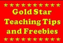 Gold Star Teaching Tips and Freebies! / A collection of our best posts and freebies from some of the most respected educational bloggers on Pinterest! / by Rachel Lynette