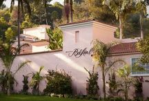 Hotel Bel-Air, Los Angeles / Nestled on 12 acres in the Bel-Air Estates neighborhood of Los Angeles, the iconic Hotel Bel-Air is one of the most beautiful, romantic, and exclusive hotels in the world. Just opened after a two year transformation, this Spanish mission-style urban oasis wins praise for its attentive service, luxurious accommodations, and magical ambiance. / by Dorchester Collection