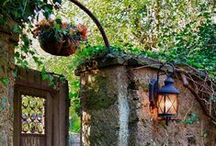 SECRET GARDEN... / Small..cosy...private...hidden..secret gardens...with pariphinalia and uncle tom cobley and all...PY... / by Pauline Yvonne West