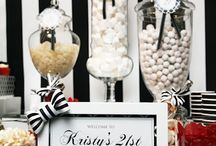 Candy buffet ideas / Candy candy candy, set up all purty! Love a candy buffet, candy table or candy bar for a party, shower, wedding or special occasion. / by Mary Jo Cameron