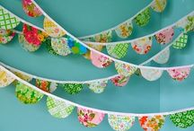 Buntings Banners Garland & More / by Dianne Trusdall