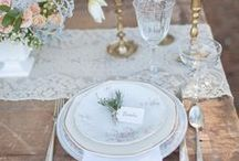 Wedding table settings / by Lavender Weddings &more