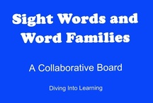 ELA- Sight Words, Word Families / This board focus on lessons, activities and word walls to help students learn sight words, word families, rhyming words and blends. This is a collaborative board. Contributors- please pin 1:1 ratio (1 paid product per freebie/craft/book/etc).   Contributors- please pin a variety of items including free and paid products, blog posts, games, crafts, etc.  / by Diving Into Learning