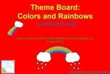 Theme- Colors/Rainbow / K-2 lessons, games, crafts, websites, books to go along with a colors/rainbow theme.  / by Diving Into Learning
