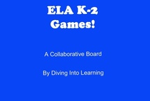 ELA- Games! / Games to go along with pre-k/k/1/2 literacy!  / by Diving Into Learning