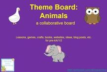 Theme- Animals / K-2 lessons (science, ELA, math), games, crafts, websites, and books that go along with any animal (farm, ocean, forest, rain forest, pets, zoo, etc) theme. Contributors- please pin 1:1 ratio (1 paid product per freebie/craft/book/etc).  / by Diving Into Learning