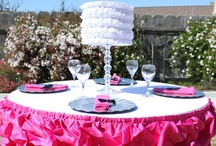 """Ruffles """"Look for Less"""" / Two tables I designed as part of my """"Look for Less"""" series on Hostess With The Mostess / by Soiree Event Design"""