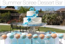 """Summer Soiree Dessert Bar / Two Sweets Bars I designed as seen in my """"Look for Less"""" series for Hostess With the Mostess.  Designer sweets bar and Budget Chic Target sweets bar / by Soiree Event Design"""