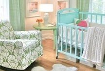 Mint and Peach Nursery / Sweet coral and mint bird themed nursery filled with various prints, shapes and textures. I love this theme and color for a baby girl's nursery!  / by Shannon Russ