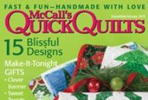 McCall's Quick Quilts Issues / Covers of McCall's Quick Quilts magazines. / by McCall's Quilting