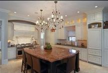 """Knock Out Kitchens / It's often said that the kitchen is the heart of the home. That must by why there are so many ways to design it! From counter tops and cabinetry to an array of appliance and lighting fixtures, a kitchen's customization options are endless. Here are a few knock out kitchens found in Baird & Warner properties throughout Chicagoland. And, remember: """"Real estate is more than just the home you live in - it's the life you get out of it."""" / by Baird & Warner"""