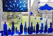 blue bottles / by Kathy Lynch
