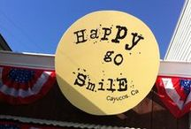 HapPy gO SmiLe, Cayucos CA / A little shop in Cayucos, CA where you can eat cUpCaKes that make you HapPy gO create ART and shop for things that make you SmiLe! 36 N Ocean Ave / by Barbara Saia