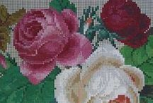 Berlin Woolwork - Floral - Roses / Cabbage Roses exclusively.  If the roses are not Cabbage Roses, it isn't Berlin Woolwork :0 / by Laura Jones