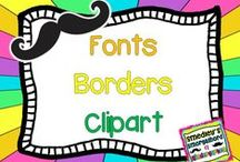 fonts, borders and clipart / by The Kindergarten Smorgasboard