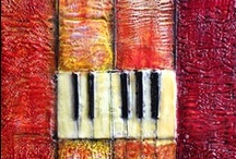 Paintings / This is a board showing paintings in different mediums / by Dora Ficher Art