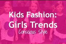 Kids Fashion: Girl Trends / Here's what's on the runways this fall for girls:  fabrics, color, patterns, silhouettes, accessories, and more.  And, tips on 1) how to maximize your budget;  2) which current trends you can find on resale;  and 3) how to upstyle to get the look or expand outfit options.  Comments and ideas welcome! / by LoobaLee