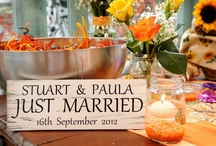 Tying the knot / Planning our Autumn garden wedding reception. / by Paula Carter
