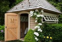 Garden Sheds and Small Buildings / I am having a garden shed contructed this spring.  I used many of these designs to come up with what I want.  Hopefully, it will be finished in April. / by Joan Altman