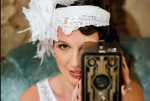 Great Gatsby / One of the biggest wedding trends this year is the 1920s vintage look. The fashion style of the 20's was romantic. It included dropped waist lines, unique head pieces and lots and lots of lace. / by Vistaprint
