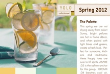 YOLO Colorhouse Spring Palette 2012 / This spring we are not shying away from color! Sunny, bright yellows are hot in home décor, and when paired with light blues and greens, create a fresh look.  Perfect for sunrooms, kitchens and bedrooms, these happy hues are sure to lift spirits. ASPIRE .05 is the yellow anchor for this group.  DREAM .04 breathes cool air, while THRIVE .02 adds a tangy twist and IMAGINE .03 brings balance to this mix. / by Colorhouse Paint