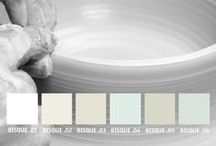 YOLO Colorhouse BISQUE Color Family / Part of the Handcrafter Color Collection, the BISQUE color family is group of whites ranging from the bright white of porcelain to the muted hues of earthenware. / by Colorhouse Paint