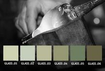 YOLO Colorhouse GLASS Color Family / Part of the Handcrafter Color Collection, the GLASS color family is a group of cloudy greens reminiscent of Depression era milk glass. / by Yolo Colorhouse