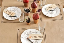 Kids dinner table / by Laura-Rusty Cordle