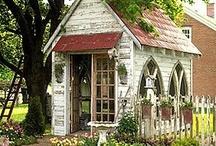 Garden Sheds/playhouses / by Marjorie Pepmeier
