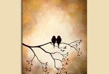canvas / handpainted / by Ruth Downey