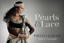 Pearls & Lace by Preeti S Kapoor | Upto 35% Off Sitewide / With this collection Preeti S Kapoor Designs moves from edgy to elegant. Find anarkalis and saris with delicate details of faux pearls and lace trims. These stunning silhouettes in soft and subtle tones, look stylish and classy at a day to evening soiree. #HappyThanksgiving Shop Now and avail upto 35% Discount Site-wide: http://goo.gl/PJD9EI / by Exclusively In