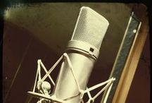 Microphones / Elegant, iconic, revolutionising ... such a pretty, but powerful little thing.  / by Barry Wong