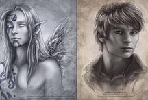 Art by Adele Lorienne / I love the stories and elves depicted by Adele Lorienne.  She has Amazing Talent. / by Simone DeKadt