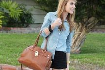 How to Wear a Denim/Button-Down Shirt / by Christine C