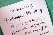 Unplug Your Wedding / by Soltren Photography