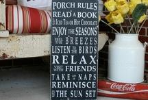 Porch talk~ / by Lori Hager